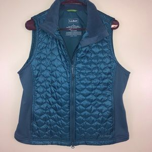 L.L. Bean Quilted Thinsulate Vest Teal Large